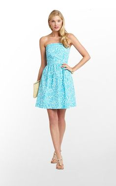 Lilly Pulitzer Summer '13- Chandie Dress in Turquoise Mini Part Favors