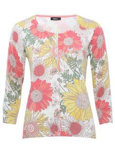 M Women Sunflower print cardigan
