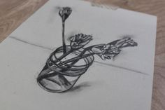 Use Simple Shapes to Create Realistic Pencil Drawings of Flowers
