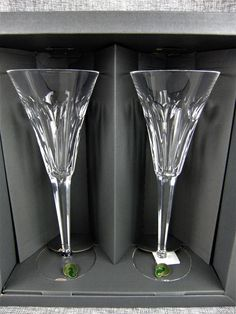 Waterford Crystal Love Toasting Flutes Champagne Glasses Millennium Collection Crystal Champagne, Champagne Glasses, Crystal Glassware, Waterford Crystal, Flute Glasses, Toasting Flutes, Glass Ceramic, Crystals, Cheers