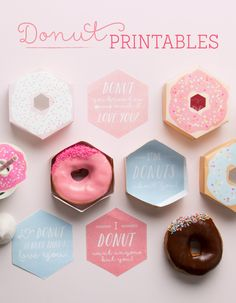 Who's nuts for donuts? We are! And we've made it super easy for you to get in on all the donuty fun with this cute-as-a-button range of FREE Donuts Printables. Yay!