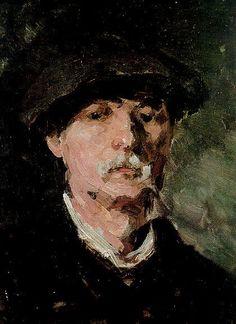 Self Portrait ~ Nicolae Grigorescu ~ (Romanian: Vintage Wall Art, Vintage Walls, Human Pictures, Russian Painting, High Art, Portraits, Famous Artists, Renoir, Pencil Art
