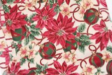 Christmas poinsettias ornaments material/fabric 4 sewing, quilting, crafts etc
