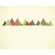 Mountain Range. Geometric Print of an Original Collage. By Violet May via Folksy, £12.00