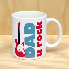 dad you rock! guitar mug