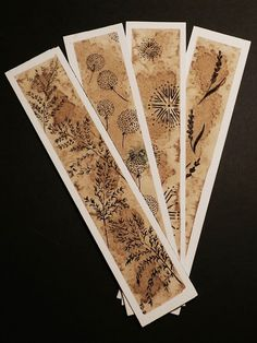 bookmark (23X5 cm)   floral ornament   coffe, salt, ink on watercolor paper    design by Francesca Deplano