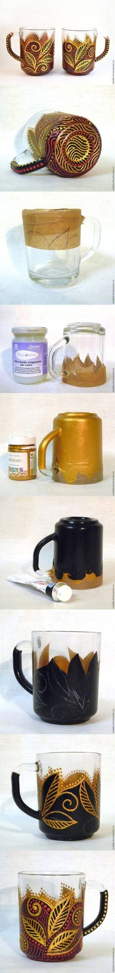 DIY Dot Painted Mug