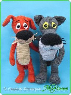 """Волк и Пес из мультфильма """"Жил-был Пес"""" от Марины marinash.  Пряжа: акрил.  Рост: 22 см."""