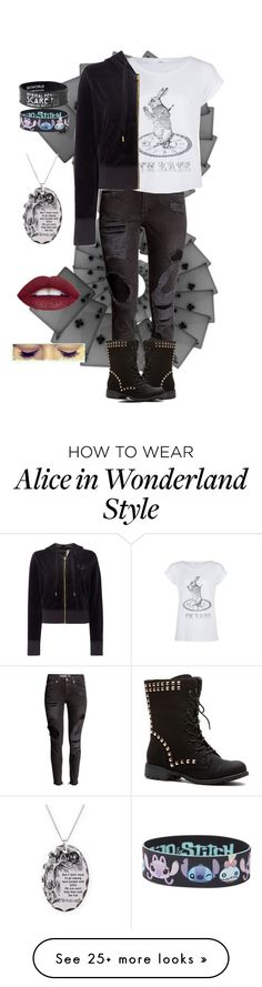 """""""Like Alice In Her Wonderland"""" by amyclayton on Polyvore featuring Disney, True Religion, women's clothing, women, female, woman, misses and juniors"""