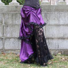 Sweet Temptation Steampunk Bustle Skirt High Low Long di auralynne