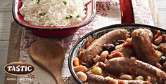 Here's a Saucy Baked Bean and Sausage Casserole recipe http://bit.ly/1aZuQlK to try. Tastic Parboiled rice in the mix