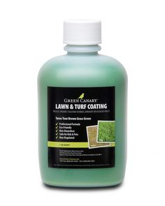 "Green Canary Grass Colorant is a non-toxic, non-VOC, non-HAP, no-odor formulation designed to be safe for pets, children, and non-harmful to the grass or soil. Green Canary Grass Colorant contains natural ingredients that are ""Certified Organic"". Green Canary has also been tested by numerous EPA Certified environmental testing labs. Green Canary has proven effective in transforming and improving the aesthetics of dried, damaged, pet-stained, drought-impacted, or otherwise distressed grass."