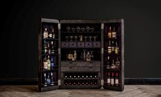Timothy Oulton's Hudson cupboard has been transformed into the ultimate bar cabinet, stocked with the world's finest drink and cigars and comes with award-winning bartender for a weekend. Christmas Gifts For Men, Best Gifts For Men, Bar Furniture, Cabinet Furniture, Furniture Design, Drinks Cabinet, Liquor Cabinet, Gold Bar Cart, Luxury Packaging