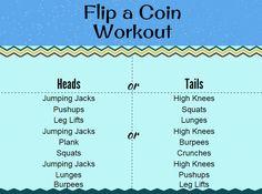 Flip a Coin Workout www.yourhealthyyear.com
