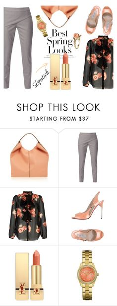 """Spring Lips III"" by letiperez-reall ❤ liked on Polyvore featuring beauty, Rebecca Minkoff, WtR, Luciano Padovan, H&M, Yves Saint Laurent and Vintage"