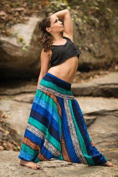 → Harem Pants for Women ॐ Hippie Culture, Harem Pants, Palazzo Pants, Yoga Pants, Trousers, Traditional Fabric, Striped Jumpsuit, Jumpsuits For Women, Tie Dye Skirt