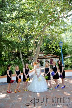 Loving The Black Dresses With Rainbow Flowers And Shoes Wedding Love