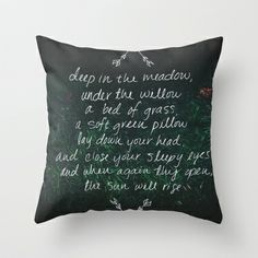 Rue's Song (Hunger Games) Throw Pillow by Leah Flores Designs | Society6