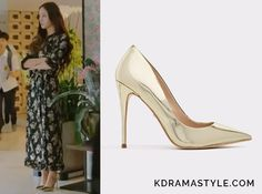 Moo Ra(Krystal 크리스탈) wears gold metallic pumpsin Episode 11 of Bride of the Water God. They aretheAldoStessy pumps in gold. Getthem HERE for $80. Available from: Aldo – $80 Spring – $80  See more of Krystal's outfits here. AllEpisode...