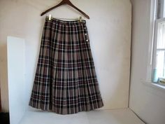 Hey, I found this really awesome Etsy listing at https://www.etsy.com/listing/217043339/vintage-100-wool-plaid-pleated-skirt