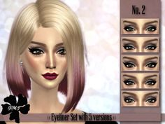 IMF Eyeliner Set No.2 by IzzieMcFire at TSR via Sims 4 Updates