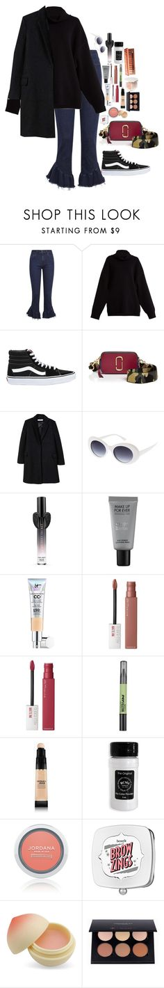 """Untitled #4999"" by veronicaptr ❤ liked on Polyvore featuring Paige Denim, Raey, Vans, Marc Jacobs, MANGO, Victoria's Secret, MAKE UP FOR EVER, It Cosmetics, Maybelline and Milani"