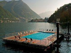 CastaDiva Resort in Lake Como. #hotel #pool #view