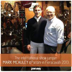 Mark McAuley with Selleria Pariani in Fieracavalli Verona. Stay tuned!  #markmcauley - #progrippedbypariani #protectedbysicursell