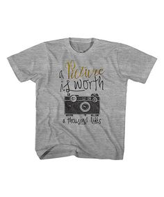 Look what I found on #zulily! Gray Heather 'A Picture Is Worth' Tee - Toddler & Kids #zulilyfinds