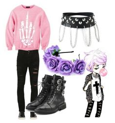 """pastel goth boy ♡♡♡"" by baka-princess-neko-chann244 ❤ liked on Polyvore featuring Giorgio Brato, Giuseppe Zanotti, men's fashion and menswear"