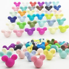 50pieces/lot Mickey Silicone Beads Baby Teething Beads 24*20*14mm Safe Food Grade Nursing Chewing Mickey Silicone Beads 27Colors-in Beads from Jewelry & Accessories on Aliexpress.com | Alibaba Group