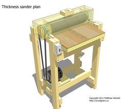 Thickness sander plans - printer optimized: