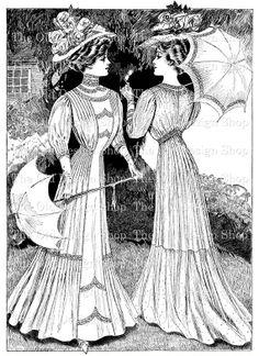 Victorian Ladies Fashion Printable Vintage by TheOldDesignShop, $3.00