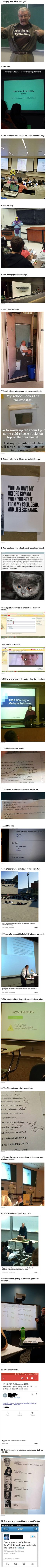 These funny and geeky professors did not let their students get the last laugh.