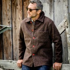 Natural Wool French Work Jacket