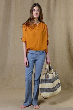 Trousers - E-shop Soeur, parisian brand of clothing and accessories for women. Trousers, Pants, Shirt Shop, Parisian, Bell Bottom Jeans, Collection, Spring Time, Shirts, French