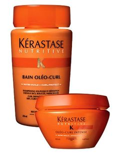 Kérastase  My go to shampoo and conditioner. This one adds a lot of moisture and shine to curly hair. The best line of shampoo and conditioners out there. You actually see results with this product!