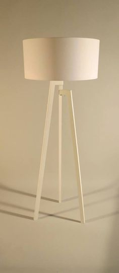 Handmade Tripod Floor lamp with unique wooden by DyankoffShop
