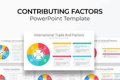 Contributing Factors PowerPoint Diagram Gift Card Presentation, Presentation Skills, Presentation Layout, Business Presentation, Presentation Templates, Slide Design, Keynote Template, Color Themes, Factors