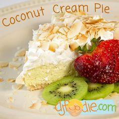 Sugar Free, Gluten Free, Low Carb Coconut Cream Pie! / @DJ Foodie / DJFoodie.com