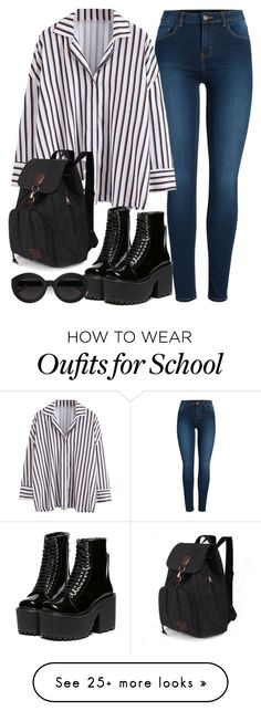 """Normal day"" by vxctxrx on Polyvore featuring Pieces and Carla Zampatti"