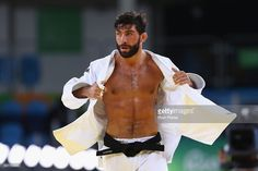 Matteo Marconcini of Italy looks on following victory over Ivaylo Ivanov of…