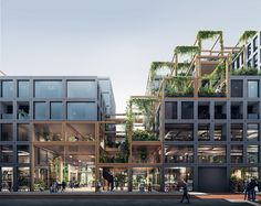 architecture REBEL is a bold, flexible and sustainable design for the plot Zuidas Amsterdam. A smart framework enables spatial flexibility for a mixed-use building; Architecture Module, Villa Architecture, Green Architecture, Futuristic Architecture, Sustainable Architecture, Sustainable Design, Contemporary Architecture, Japanese Architecture, Ancient Architecture