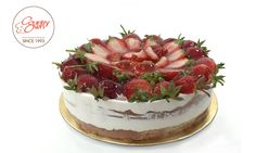 I hope your day is as lovely as a frosted #Strawberrycake!