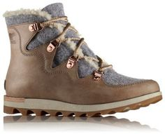 The SOREL Women's Sneakchic Alpine Holiday Boot is our festive take on a sporty, comfortable winter boot with waterproof leather and felt and plush shearling. Shop now Perfect footwear for all seasons at SOREL. Suede Boots, Suede Leather, Leather Boots, Timberland Boots Outfit, Sorel Boots, Timberland Waterproof Boots, Yellow Boots, Shoe Company, Leather Design