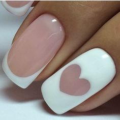 Step-by-Step Guide to - 70 Top Braut Nägel Kunst Designs - DİY, Nagel Design French Nails, French Manicure Nails, Manicure E Pedicure, Diy Nails, Summer French Manicure, Pedicures, Gorgeous Nails, Love Nails, How To Do Nails
