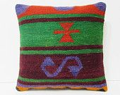 sofa pillow cover accent pillow case green kilim pillow cover set novelty pillow case colorful pillow red wool rug burlap throw pillow 20597