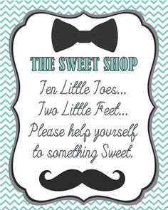 Boy Baby Shower Signs  #candystation Created Monarch Weddings  www.monarchweddings.com