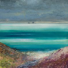 A Cornish Valley Abstract Landscape Painting, Landscape Art, Landscape Paintings, Sea Paintings, Landscapes, Kurt Jackson, St Just, Historia Natural, Felt Pictures