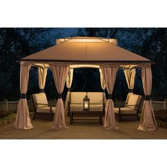 Sunjoy Pool-House Cabana Gazebo (10' x 12')